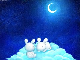 Moonlightbunnies by Mellymiew