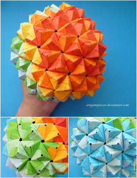 Origami Epcot Ball by OrigamiPieces