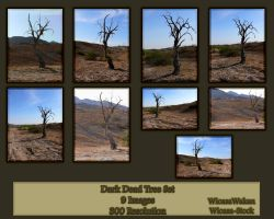 Dark Dead Tree Set by Wicasa-stock