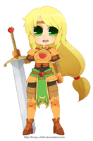 Warrior of Harmony - Fighter by Krazy-Chibi