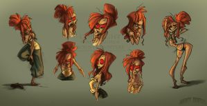 Morguane and her expressions by Red-Vanilla19