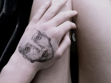 Hand Face by JE-Rose