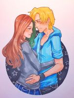 Gift for Ninjapineapple - Lynn and Shou by taintedfeather
