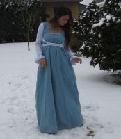 Blue dress in Snow 4 by NaomiFan