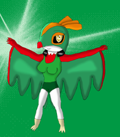 Inez the Hawlucha by KendraTheShinyEevee