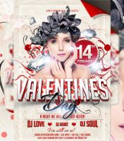 Valentines Day Flyer Template by LordFiren