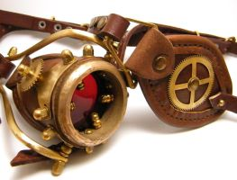 Steampunk Monogoggle 9 by AmbassadorMann