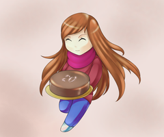 Chibi Vera with a cake by Lutherine