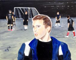 Zach and the Soccer Team by CarolynYM