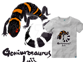 T-Shirt: Goniurosaurus Luii by Silce-Wolf