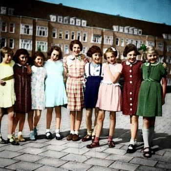Anne Frank's 10th Birthday Party in Color by sumaustrialove
