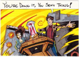 DoctorWho Sketchcard:11 + Sexy by JamesRiot
