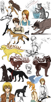*Shingeki no* Sketchdump 25 by GreeNissy