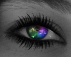 Mandys Rainbow EYE with lashes by LT-Arts