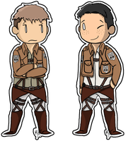 Attack on titan : Jean and Marco by Sirsapling