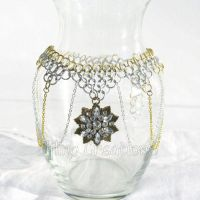 Gold and Silver Snowflake Necklace by merigreenleaf