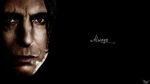 Harry Potter Wallpaper : Snape Quote! v3 by TheLadyAvatar