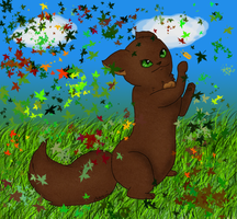 .:SS-Play with the leaf:. by Nayirah