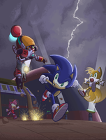 Sonic vs Gamma by E-122-Psi