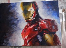 Iron Man Painting by RuX88