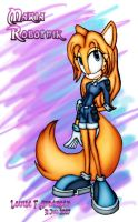 Maria Robotnik as cat colored by lu-raziel