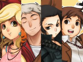 Appt.44 main characters by darax