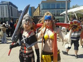 Rikku and Paine by Ligrano