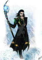 Loki god of misch-AWESOME by Khamykc-Blackout