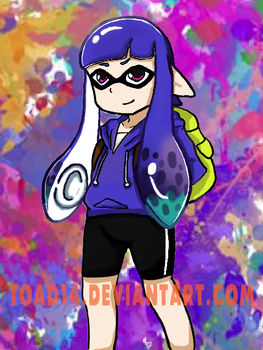 Blue Splatoon Girl by toad14