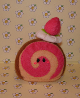 Strawberry scroll plushie by Kittyportugal
