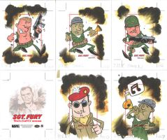 SGT FURY sketchcards 06-10 by thecheckeredman
