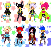 Punk Adopts price reduced(2/8 OPEN) by Kariosa-Adopts