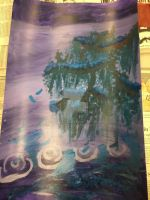 Zen Tree Over Lake Painting by Kolyat00