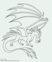 Line art - dragon again by MiniKohana