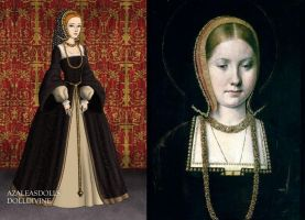 Catherine of Aragon in a French Hood by LadyAquanine73551
