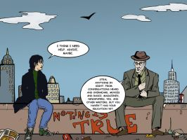 Ghost of William Burroughs Giving Advice by Nimeire