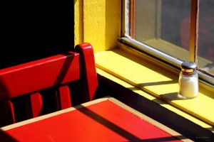 Red Chair and Table by hoaxeye