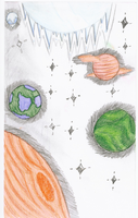 Planets with funny colors... by Zynnx