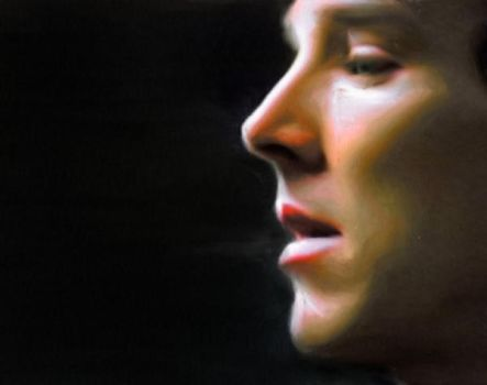 Sherlock Oil Painting by CandyLane02