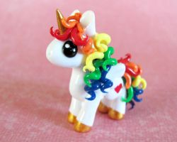 Rainbow Pony by DragonsAndBeasties