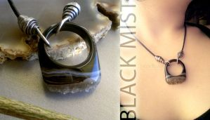 Drusy Agate Necklace for Men by popnicute