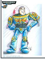 Buzz Lightyear, Space Marine by Lemia