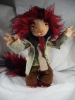 Wyck Two Tones - monster - OOAK doll by mammalfeathers