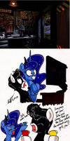Junior and Luna Plays Five Nights at Freddy's by newyorkx3