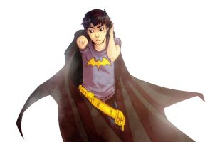 Damian with Batcape by XMenouX