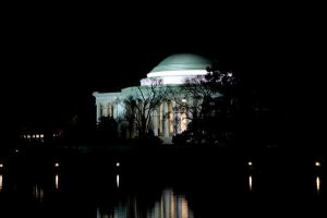 Jefferson Memorial at Night by KKNBC