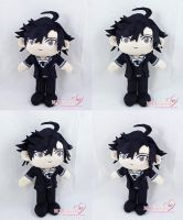 Jumin Han Plush Commission (Mystic Messenger) by moggymawee