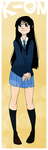 K-ON :: Mio Bookmark by RyuichiFoxe
