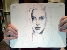 Ballpoint Angelina Jolie WIP by vivsters
