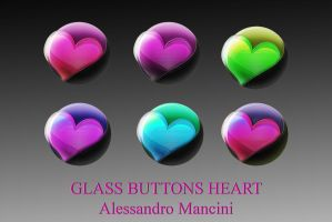 Glass Web Buttons Heart by AlessandroMancini